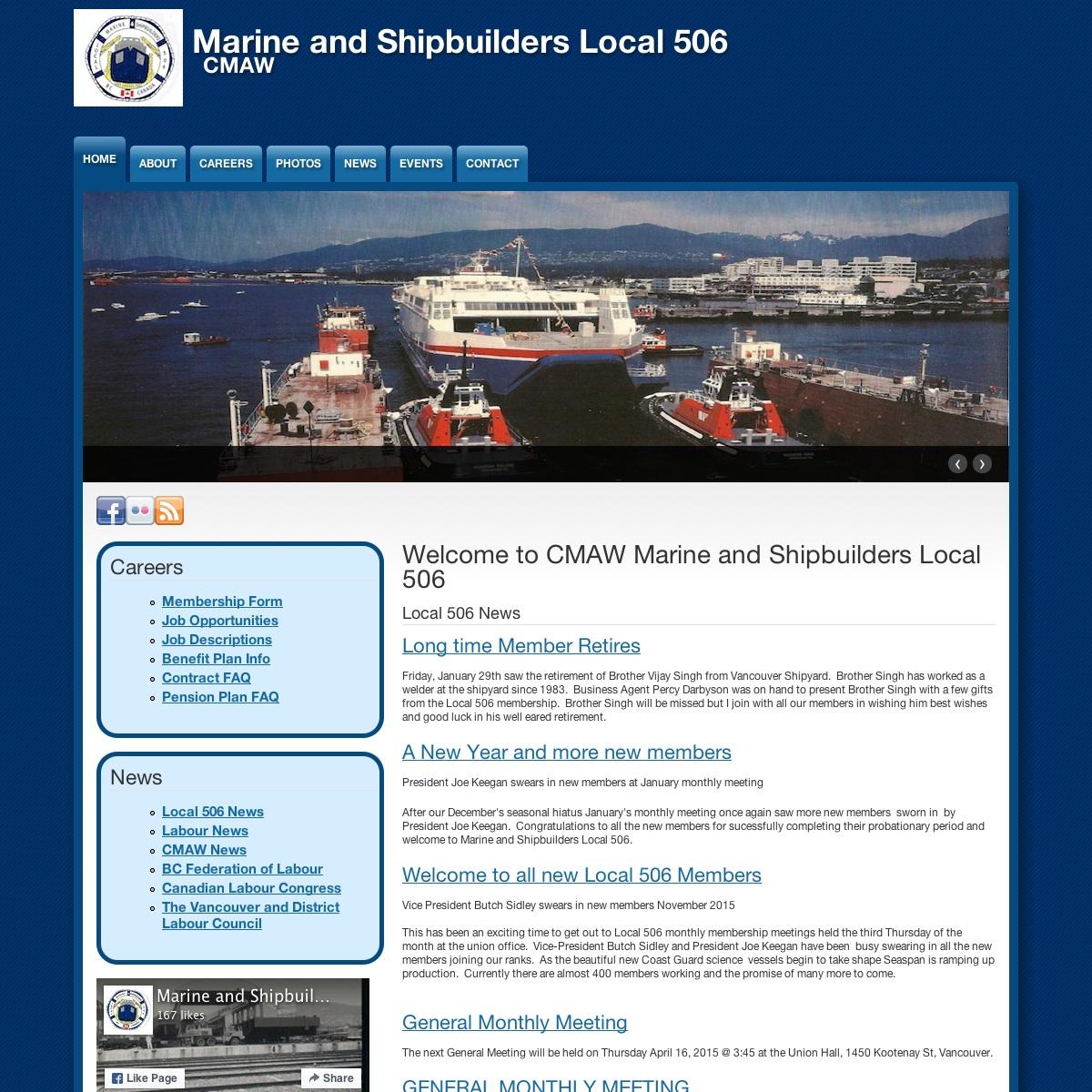 Marine and Shipbuilders Local 506