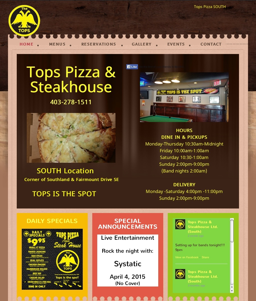 Tops Pizza and Steak House
